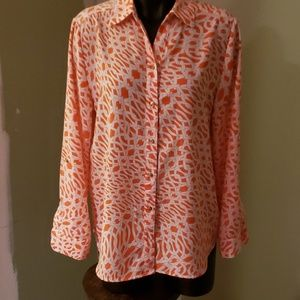 Chico's Abstract  Button-Down Blouse